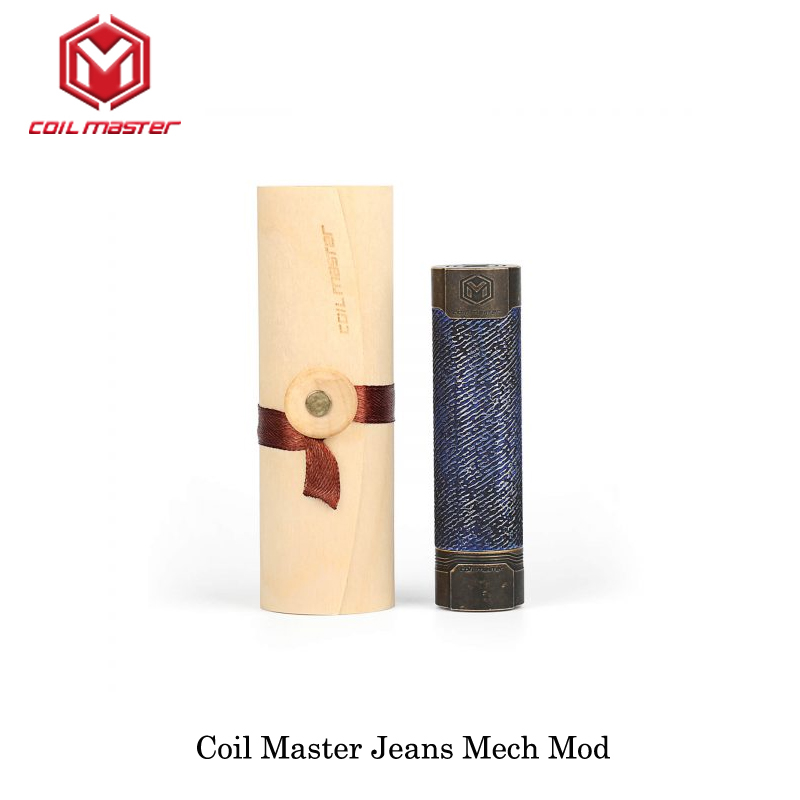 Bobine originale Master Jeans Mech mécanique Mod couleur noire 510 fil 18650 batterie Cigarette électronique Vape Mech Mod laiton