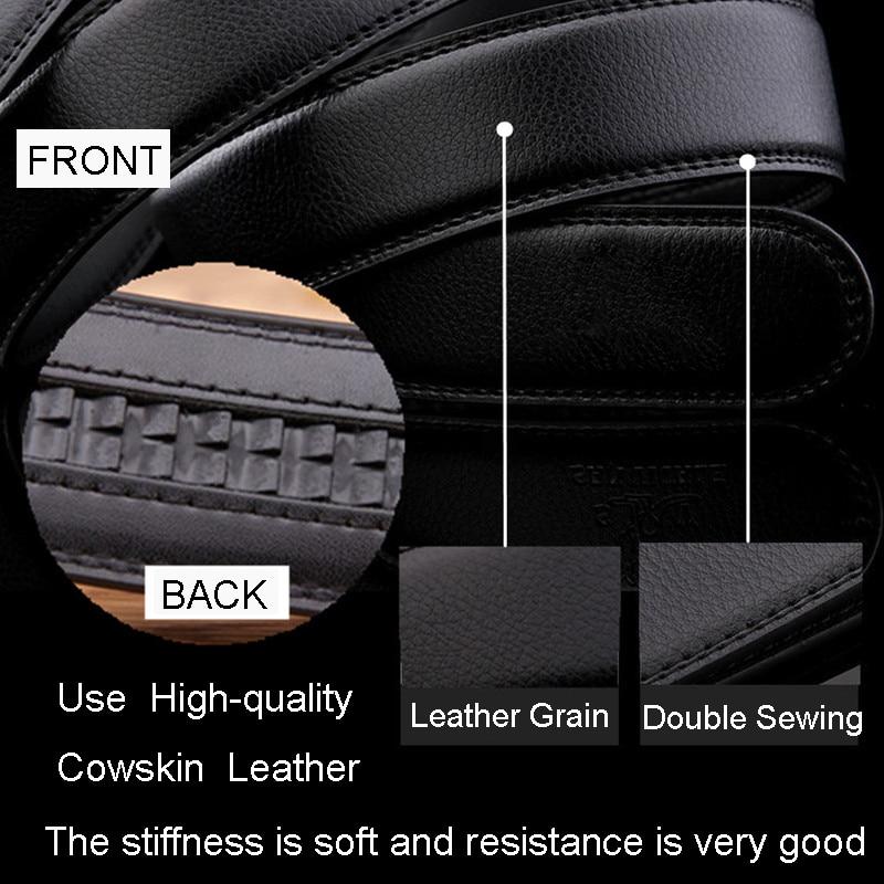 FRALU pria sabuk kulit asli sabuk kulit sabuk otomatis untuk pria - Aksesori pakaian - Foto 6