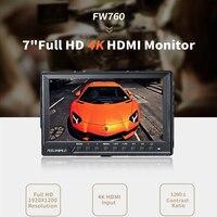 Feelworld Support Up 4K FW760 7 Inch IPS Full HD 1920x1200 On Camera Field Monitor Peaking Focus Assist Histogram Zebra Exposure