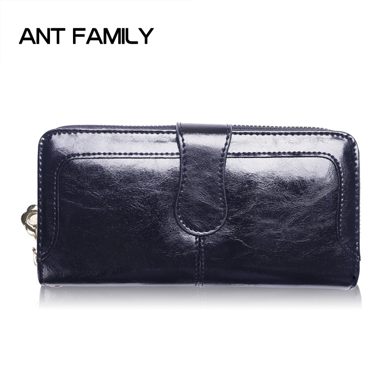 High Quality Genuine Leather Wallet Women Wallets Long Purse 2018 Female Luxury Brand Clutch Cowhide Leather Wallet Card Holder brand men wallets dollar purse genuine leather wallet card holder luxury designer clutch business mini wallet high quality