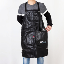 EZ TATTOO Jet Black APRON  Leather Reinforcement Adjustable cross straps Professional Style Tattoo Accessory Supply