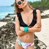 Designer Swimwear 2018 Micro Mini Bikini Small Chest Ruffles Bikini Floral Printed Swimwear Sexy Summer Beach