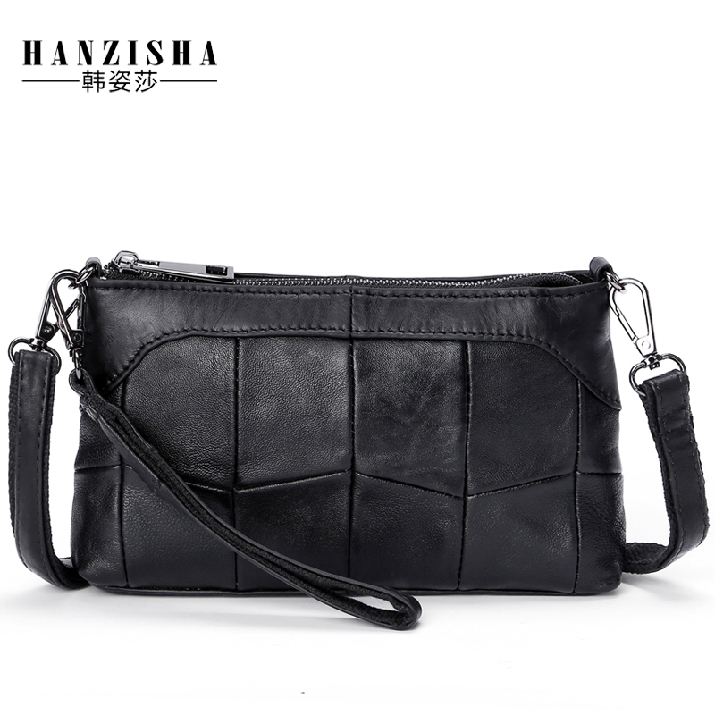 2018 Fashion Brand Genuine Leather Women Messenger Bag Small Women Crossbody Bag Soft Natural Sheepskin Lady Shoulder Clutch Bag mlhj fashion female genuine leather small shoulder bag women clutch bag luxury women messenger cross body crossbody bag woman