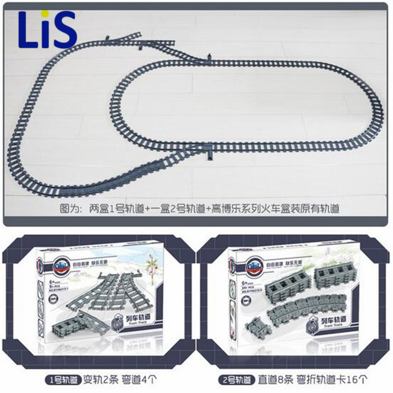New 24PCS/lot Train Streight and Curve Track Building Brick block toys Compatible with Legoingly Train All brand