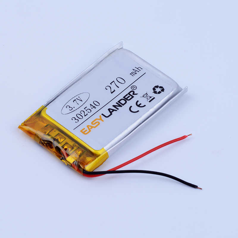 302540 3,7 V 270 мА/ч, Перезаряжаемые литий-полимерный аккумулятор Li-ion Батарея для MP3 MP4 DVR gps динамик для игрушек Автомобильный видеорегистратор Texet T-279 302439