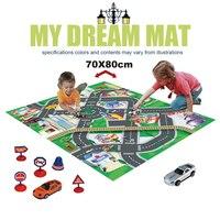 النسيج nashan سجادة سجادة الطفل سجادة لغز لعب الاطفال طفل اللعب حصيرة للأطفال تطوير playmat مع المرور دييكاست سيارات صغيرة!