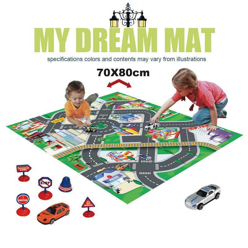 NASHAN Fabric Kids Rug Baby Rug Puzzle <font><b>Toys</b></font> Carpet Baby Play Mat <font><b>For</b></font> Children Developing Playmat With Mini Traffic Diecast Cars!