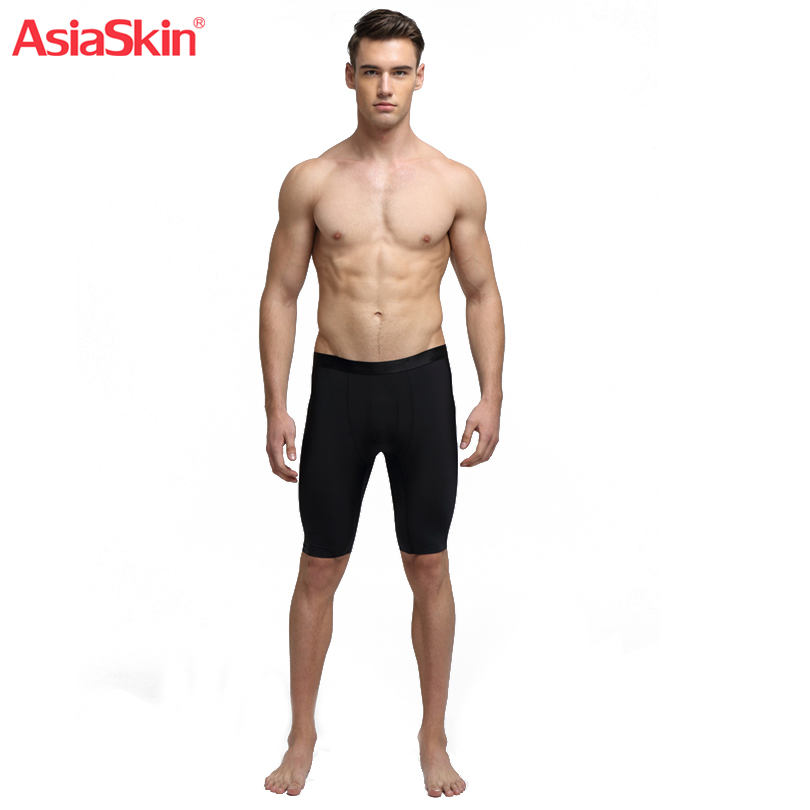 Men's Solid Ultra-thin Ice Silk Seamless Lengthening Boxer Sexy Mens Underwears Breathable Soft No Grinding Shorts