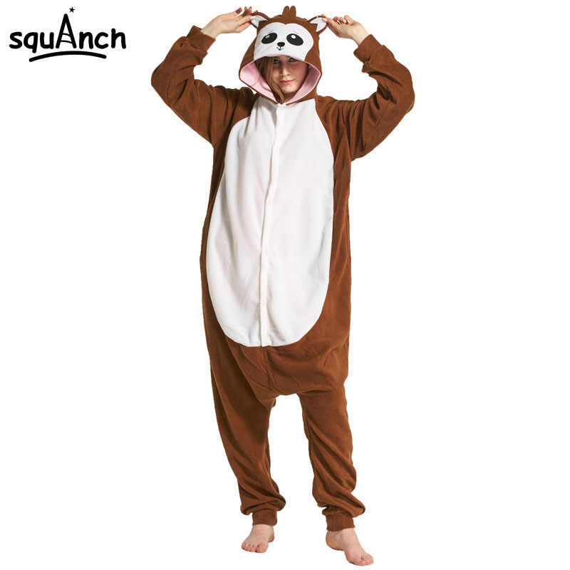 d77756f01a Detail Feedback Questions about Funny Animal Kigurumi Onesie Brown Monkey  Pajama Winter Adult Women Girl Overall Festival Street Wear Party Cartoon  Jumpsuit ...
