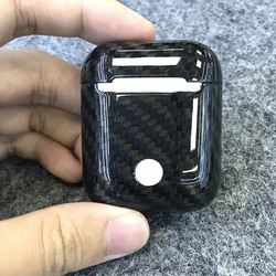 Pudełko ochronne z włókna węglowego Hardshell kompatybilne z apple airpods 1 tu shop w Akcesoria do słuchawek dousznych od Elektronika użytkowa na