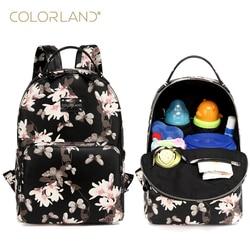 Colorland PU skóra pieluszka dla niemowląt torba na pieluchy plecak + przewijak + torba na pieluchy