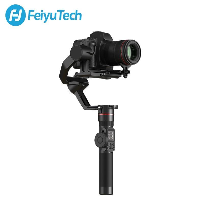 FeiyuTech AK2000 DSLR Camera Stabilizzatore Palmare Giunto Cardanico con Anello di Messa A Fuoco per Sony Canon 5D Panasonic GH5 Nikon 5D 2.8 kg carico utile