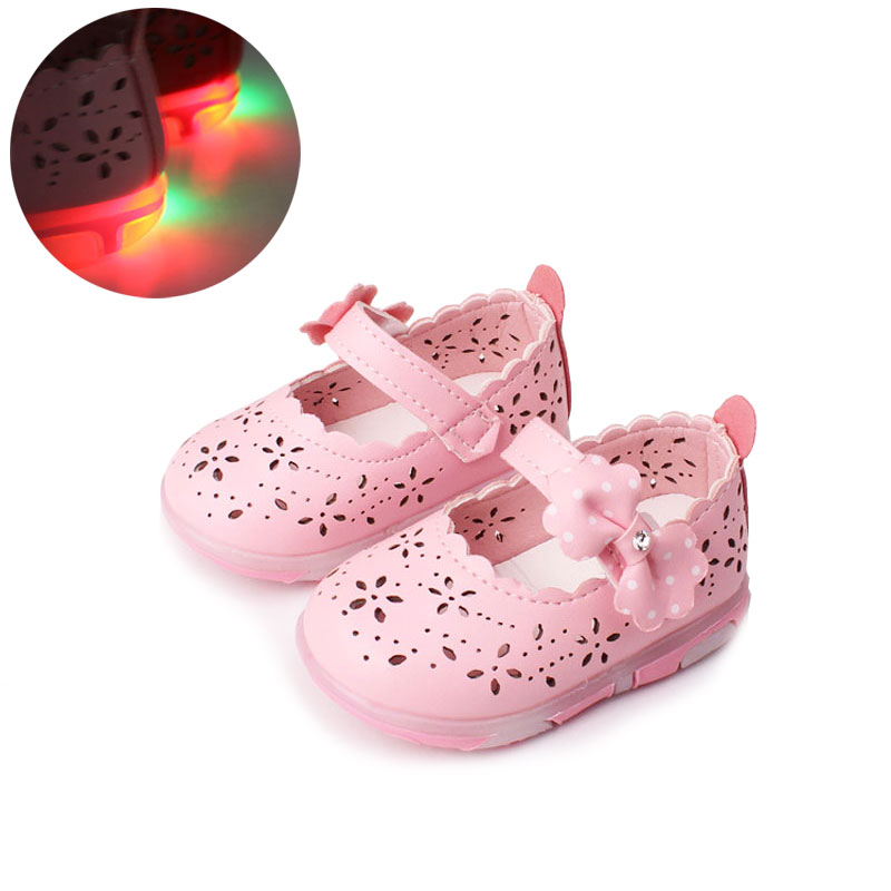 Baby Girls skórzane buty Princess butterfly-knot miękkie Toddlers - Buty dziecięce - Zdjęcie 1
