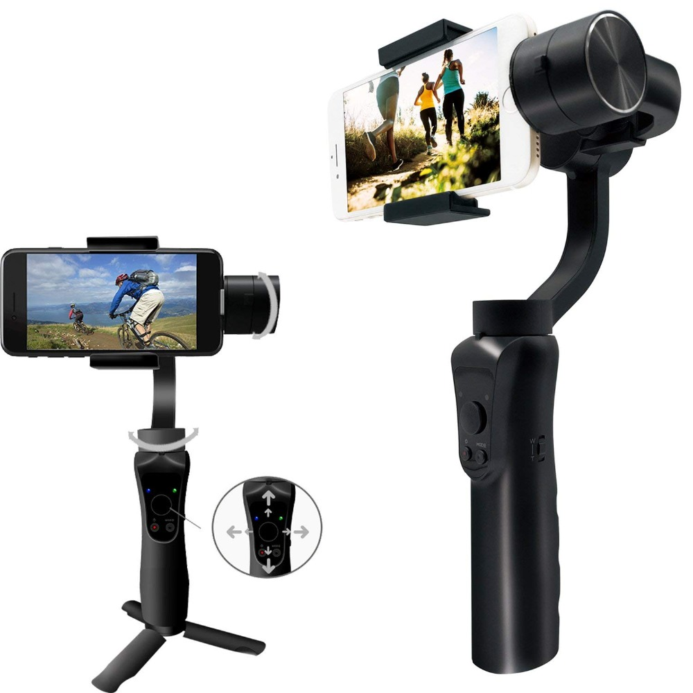 SooCoo Mobile 3 axis Gimbals Handle Stabilizer for iphone Samsung Huawei Xiaomi GoPro 6 5 4 3+ soomth Bluetooth APP Control цена