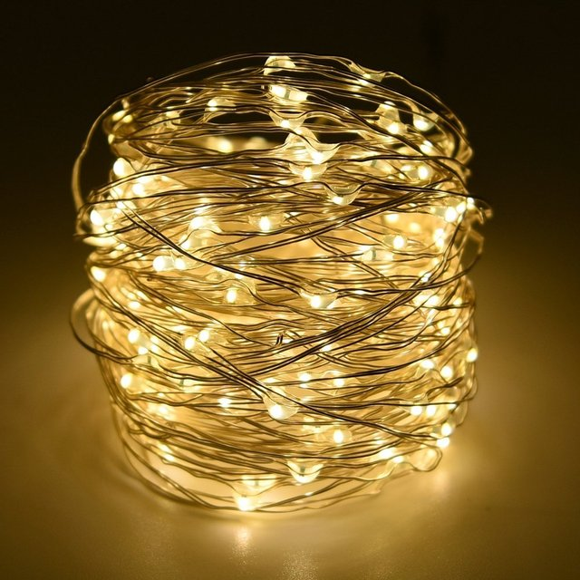 Solar String Fairy Lights 12m 100LED / 5M 50 LED  Waterproof Outdoor Garland Solar Power Lamp Christmas For Garden Decoration 4