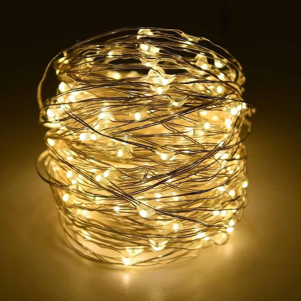 Guirlande lumineuse solaire 12m 100 LED/5 M 50 LED guirlande extérieure étanche lampe solaire noël pour décoration de jardin