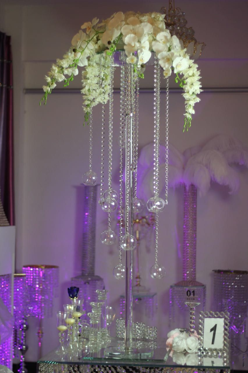 Free Express Shipping 2pcs/lot  55.11inch Tall Wedding Candle Holder Centerpiece And Flower Stand