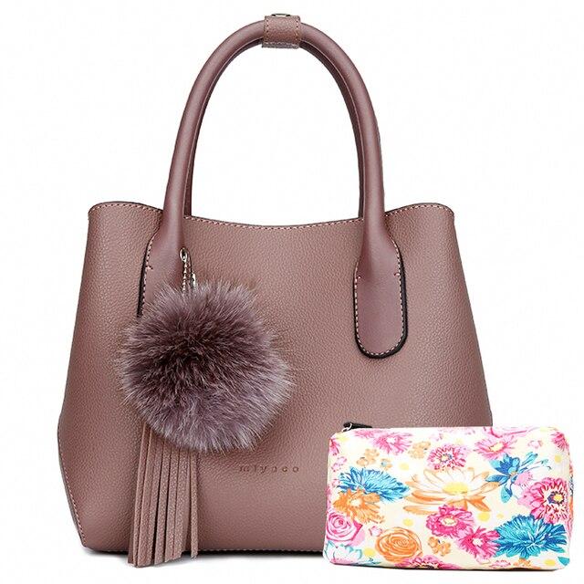 MIYACO Bolso de mano de estilo mensajero para mujer, bolsa de mano femenina, conjunto informal con bolso con flores