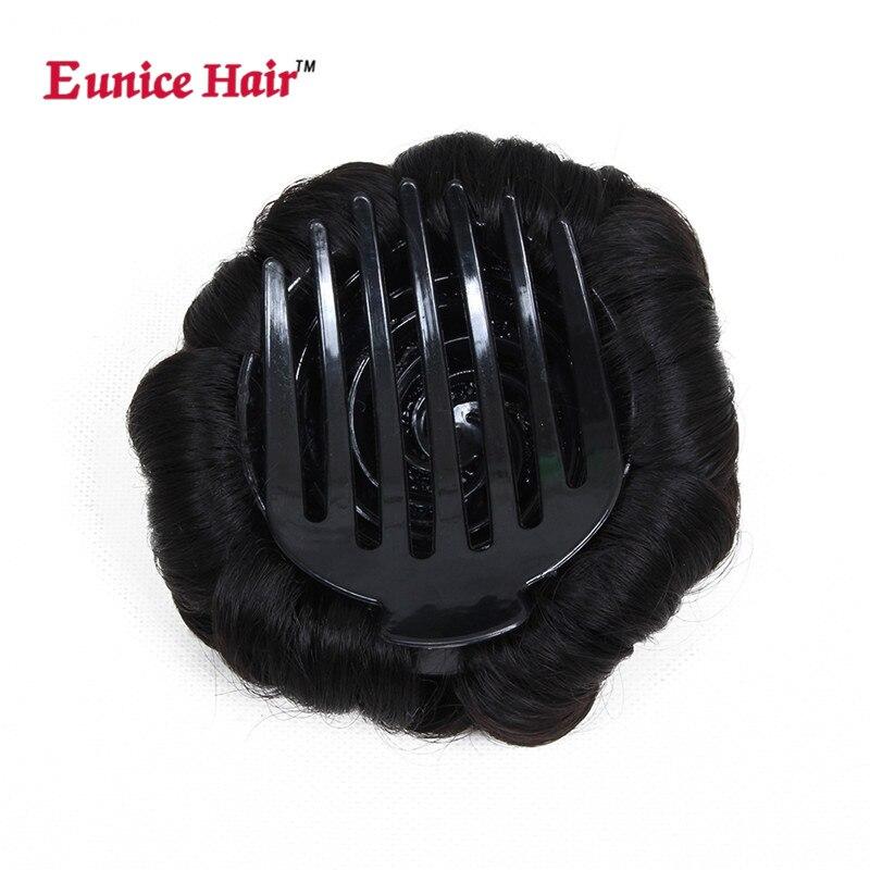 Юнис синтетического вьющихся Chignon Bun парики #2/#4/99j/33 цвета 9 цветы ролика волосы зажимы в поддельные Женские аксессуары для волос