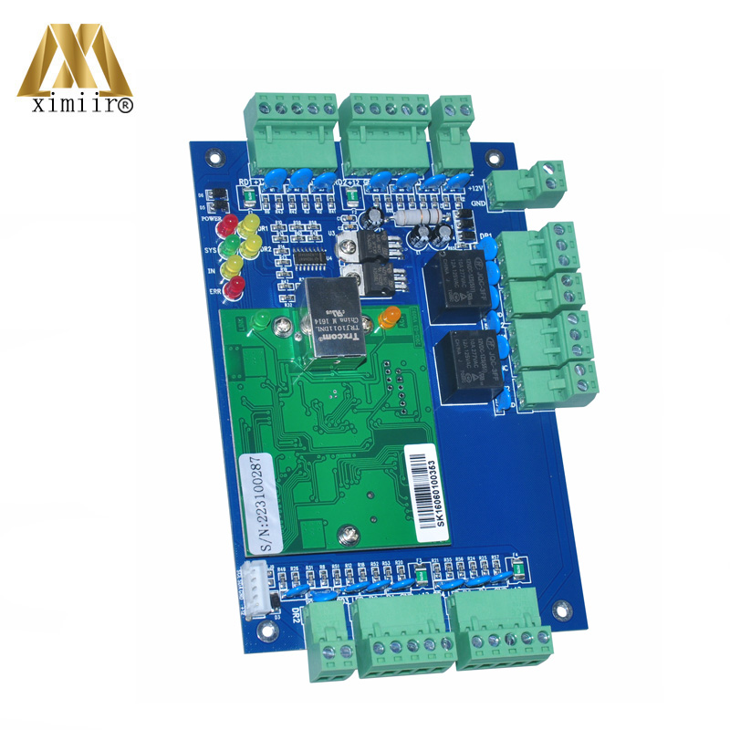 цена на High Security 2 Door Access Control Panel Two Door Two Ways TCP/IP 40000 User Free Shipping Door Access Control Board LP02