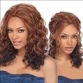 Браун Синтетических длинные парики для чернокожих женщин