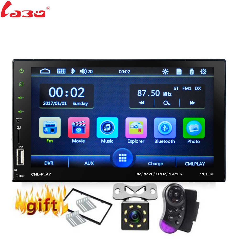 "Nuevo 2 Din coche Radio 7 ""coche Bluetooth reproductor Multimedia 2din contacto Autoradio MP5/SD/FM/MP4/USB/AUX estéreo de Audio con cámara"