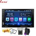 Автомагнитола 2 Din с сенсорным экраном 7 дюймов, мультимедийный плеер с поддержкой Bluetooth, MP5, SD/FM/MP4/USB/AUX, с камерой