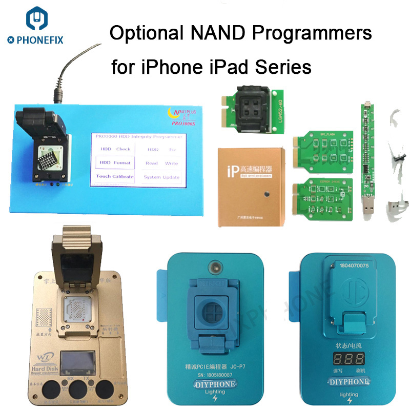 Naviplus Pro3000S JC Pro1000S P7pro PCIE8 NAND Programmer NAND Flash HDD Read Write Tool For iPhone X 8 8Plus 7 7P 6 6S 5 iPxd
