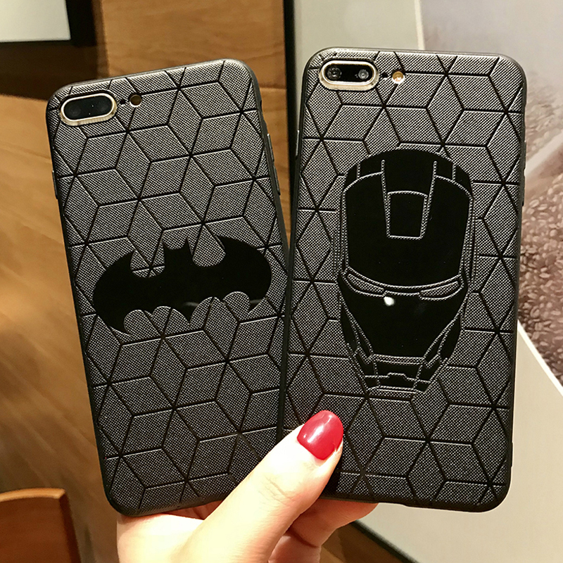 Silicone Case For iPhone XR X XS Max Male Marvel Avengers VENOM Matte Cover For iPhone 6s 7 Plus 8 Plus Superman Spiderman Cases iPhone