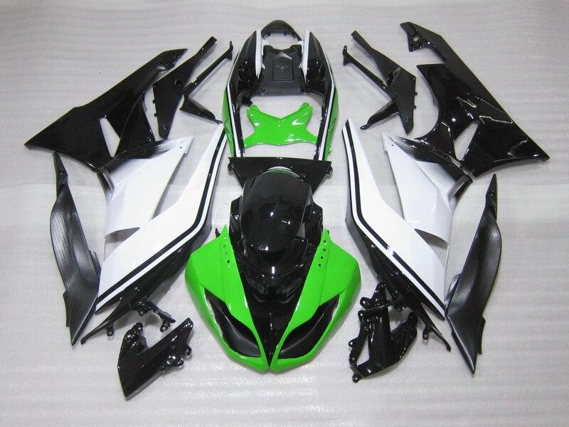 Зеленый белый Обтекатели ZX6R 2009 2011 2010 высокое качество обтекатель комплект для Kawasaki Ninja ZX 6R 09 10 11 g75