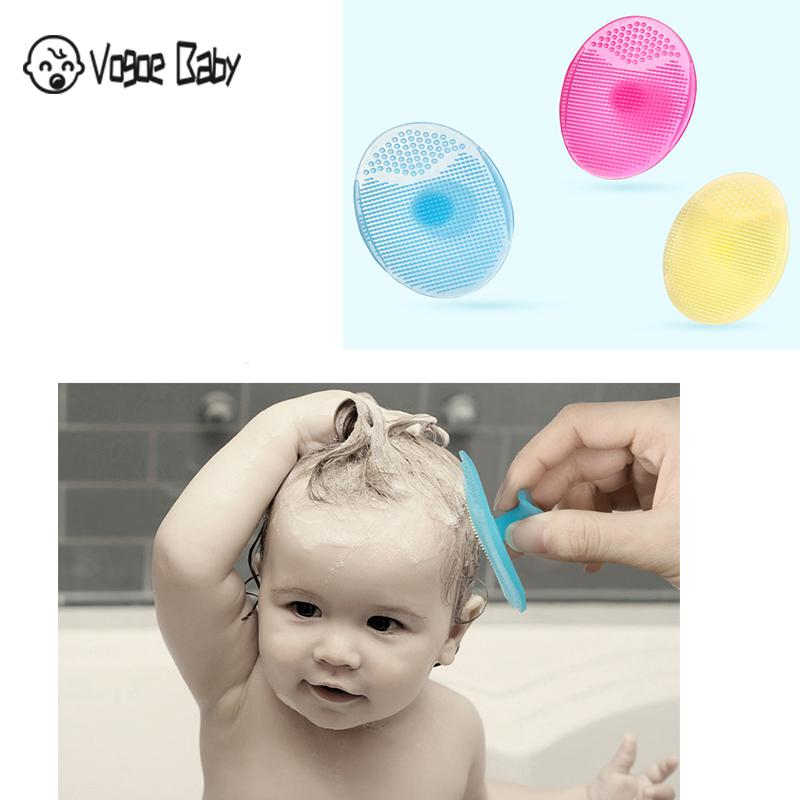 Shampoo Brushes Hair Comb 1PC Silicone Massager Comb Scalp Shower Body Brush Healthy Bath Brush Soft Brush Infant Body Hair 7479