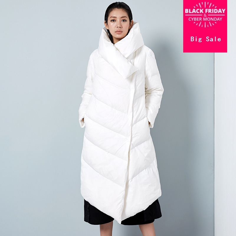 winter new arrival fashion brand silver color longer 90% duck   down   parkas winter was thin hooded thicker warm   down     coat   wq634