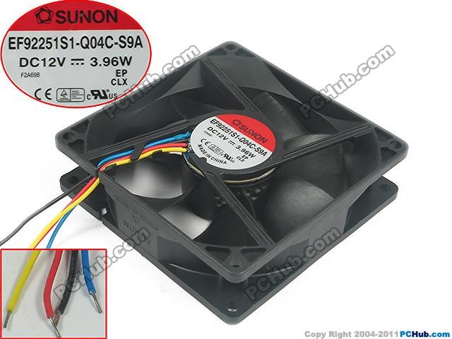 SUNON EF92251S1-Q04C-S9A Server Square Fan DC 12V 3.96W 90x90x25mm 4-wire free shipping for sunon mf75251v1 q000 g99 dc 12v 2 7w 3 wire 3 pin connector 90mm server square cooling fan