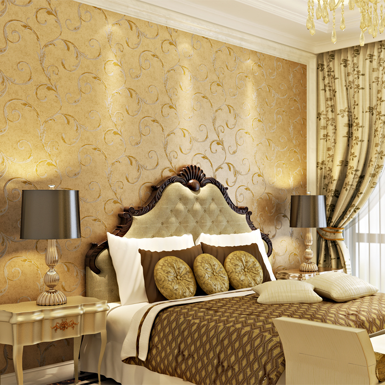 10m*53cm Non-woven wallpaper Europe type restoring ancient ways lang Chinese trumpet creeper wall stickers sitting room bedroom 163 stereo video wallpaper tv setting europe type restoring ancient ways sitting room bedroom non woven wall sticker home decor