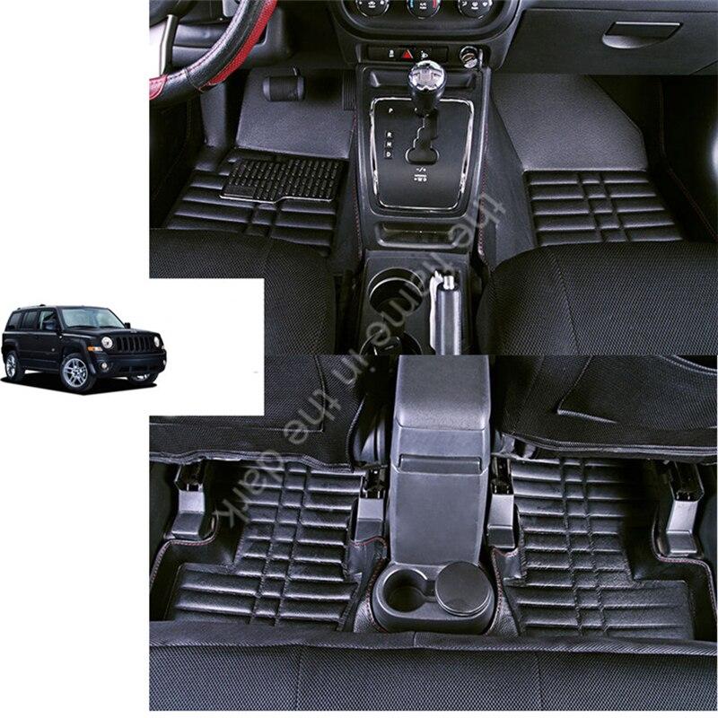 Expédition rapide étanche fiber en cuir tapis de sol voiture pour jeep patriot 2006 2007 2008 2009 2010 2011 2012 2013-2017 Jeep liberté
