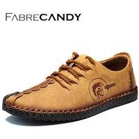 FABRECANDY 2017 Handmade Leather Shoes Casual Men Shoes Fashion Men Flats Exquisite Design Non Slip Comfortable