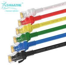 SAMZHE Cat5e Ethernet Соединительный Кабель RJ45 Компьютер, PS2, PS3, XBox Сети LAN Кабели 0.5/1/1.5/2/3/5/8/10/15/20/25/30/40/50 м