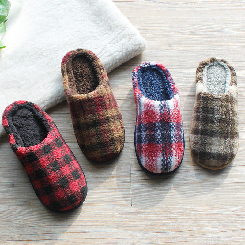 Men shoes Winter House Slippers Thick Soled Slippers Slip on Indoor Plush Flat Shoes Men's Shoes Memory Foam Zapatillas Hombre fghgf shoes men s slippers mak