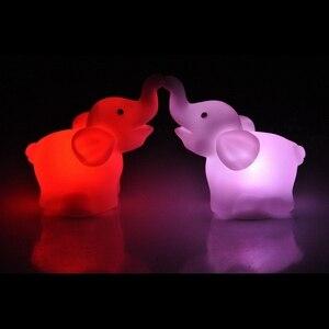 Image 2 - 색상 변경 코끼리 LED 램프 웨딩 생일 파티 장식 LED 밤 빛 휴일 조명 선물 홈 침실 램프