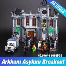Lepin 07044 1685 adet süper hero serisi batman asylums set çocuk eğitim yapı taşları tuğla oyuncaklar modeli hediye 10937