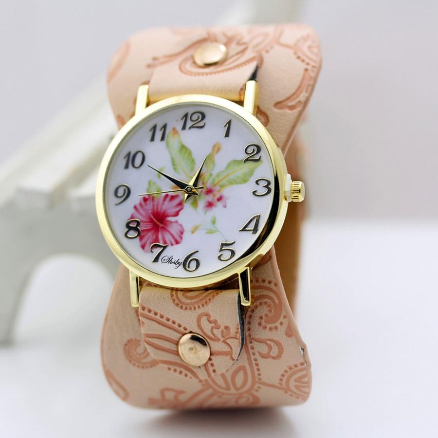 shsby Νέα Άφιξη Τυπωμένο δέρμα Βραχιόλι - Γυναικεία ρολόγια - Φωτογραφία 2