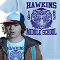 Hawkins Middle School Tigers 1983 T-Shirt from Stranger Things TV Show Adult Boys T Shirt 100% Cotton Funny TShirt USA Size Tops