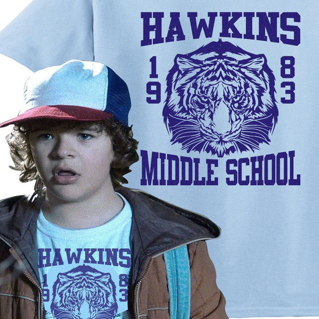 Hawkins Middle School Tigers 1983 T Shirt From Stranger Things Tv