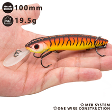 Hunthouse 2018 new kind fishing deal with 10cm minnow laborious lure lengthy forged crankbait for fishing bass zander fishing for greatest angler
