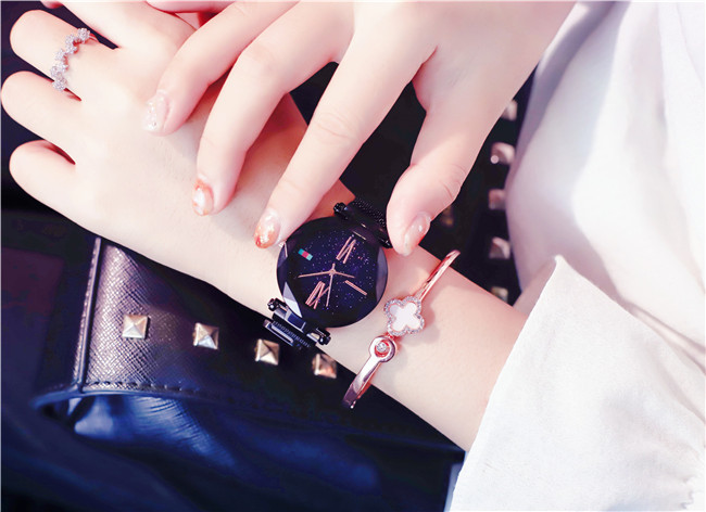 Charming Purple Women Watches Minimalism Casual Starry Sky Lady Wristwatch Magnet buckle Fashion Luxury Brand Female Watch Gift 10