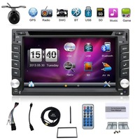 2018 New 6.2 Touch Screen Car DVD Din Player GPS Navigation USB SD Bluetooth FM 2Din in Dash TFT Support Rear View Camera Input
