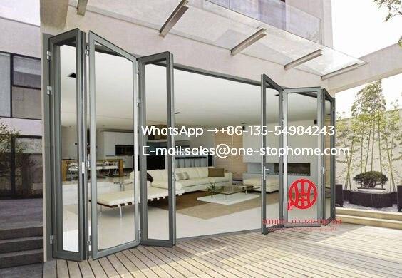 External Aluminum Laminated Bi-fold Door/folding Door Panel,Outdoor Dividers Soundproof Bi Fold Door