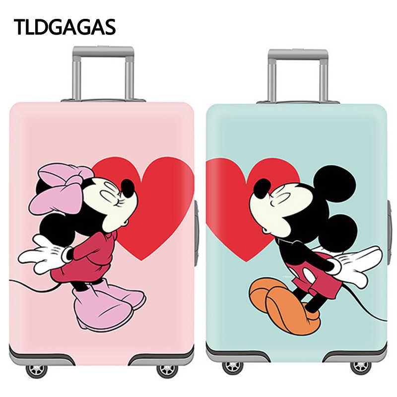 Микки шаблон эластичный Защитная крышка багажника Dustproof18-32 дюймов тележка чемодан защитный чехол Чехлы для мангала Туристические товары
