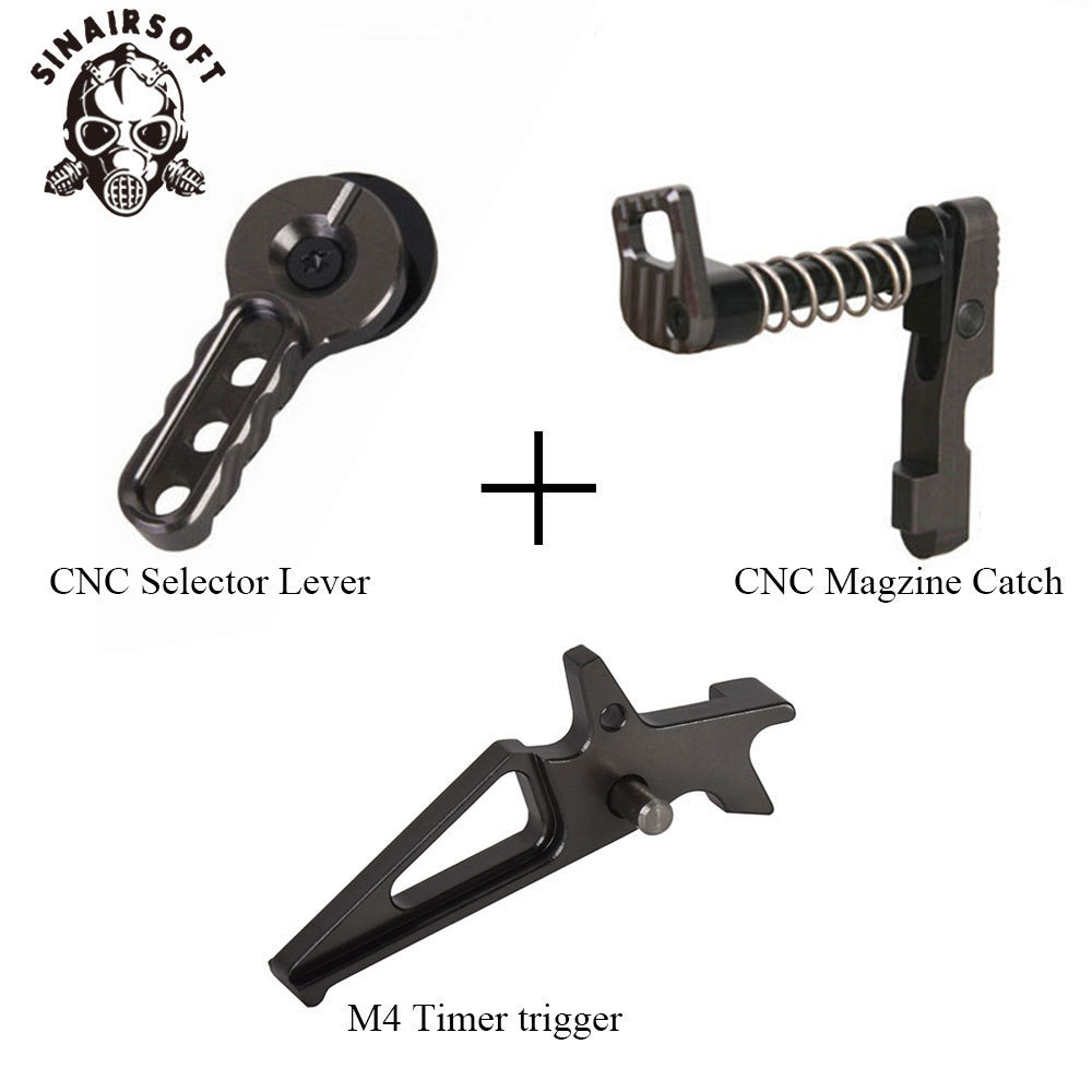SINAIRSOFT CNC Airsoft Machined Selector Lever Magazine Release Catch For M4/M16 Series Blue Magzine Catch