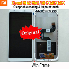 Original New Best Xiaomi Mi A2 MIA2 LCD Display 10Point Touch Panel Screen Digitizer Assembly Sensor Mi 6X MI6X with Frame new and original mi lcd panel